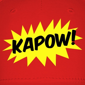 kapow! on a star fight whack fist Caps - Baseball Cap