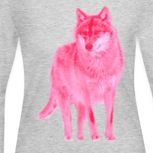 animal t-shirt wolf pack wolves howling wild animal - Women's Long Sleeve Jersey T-Shirt