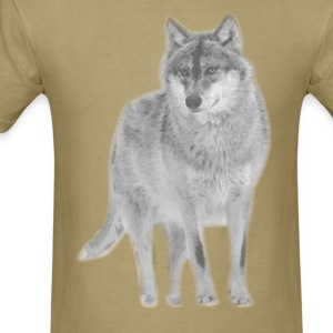 animal t-shirt wolf pack wolves howling wild animal - Men's T-Shirt