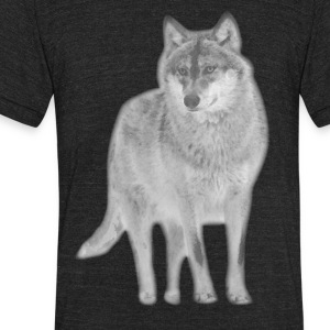animal t-shirt wolf pack wolves howling wild animal - Unisex Tri-Blend T-Shirt by American Apparel