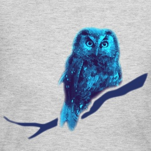 animal t-shirt owl owlet fowl bird night hunter game prey wings feather - Women's Long Sleeve Jersey T-Shirt
