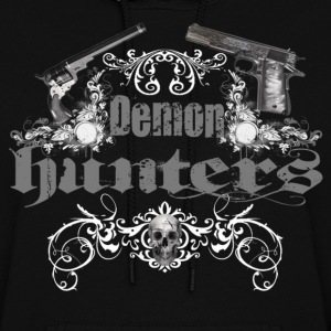 demon hunters white grey Hoodies - Women's Hoodie
