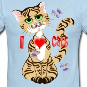 I Love My Cat - Men's Ringer T-Shirt