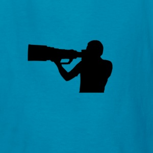 Photographer with BIG lens - Kids' T-Shirt