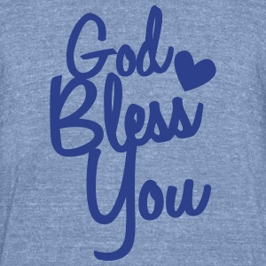 god bless you T-Shirts - Unisex Tri-Blend T-Shirt by American Apparel