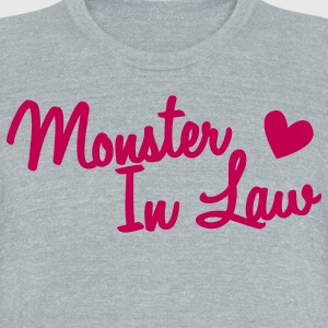 MONSTER in law (mother) mom T-Shirts - Unisex Tri-Blend T-Shirt by American Apparel