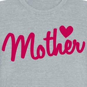 mother type with a heart T-Shirts - Unisex Tri-Blend T-Shirt by American Apparel