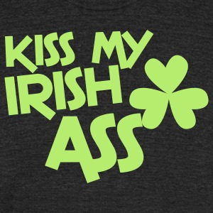 kiss my irish ass clover leaf T-Shirts - Unisex Tri-Blend T-Shirt by American Apparel
