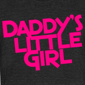 daddy's  little girl T-Shirts - Unisex Tri-Blend T-Shirt by American Apparel