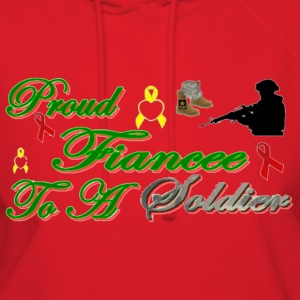 Proud Fiance to a Soldier  - Women's Hoodie