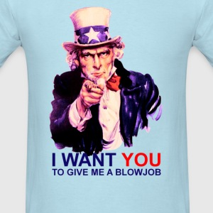 Uncle Sam I Want You Funny T-Shirt - Men's T-Shirt