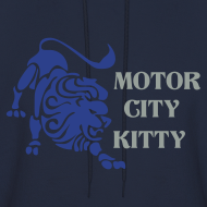 Design ~ Motor City Kitty Men's Hooded Sweatshirt