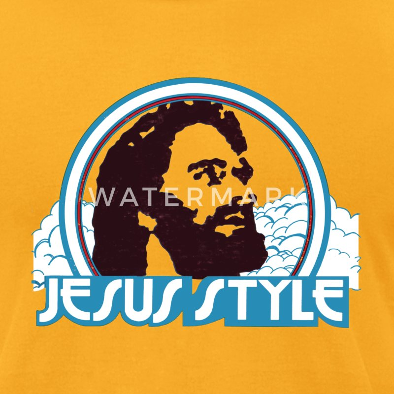 Jesus Style T-Shirt. Mens retro - Men's T-Shirt by American Apparel
