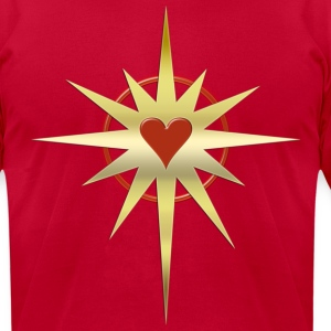 Heart Power - gold | men's shirt by american apparel - Men's T-Shirt by American Apparel