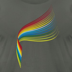 rainbow_3 T-Shirts - Men's T-Shirt by American Apparel