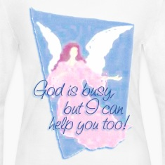GOD IS BUSY, but I can help you! | women's long sleeve jersey shirt