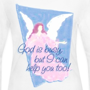 GOD IS BUSY, but I can help you! | women's long sleeve jersey shirt - Women's Long Sleeve Jersey T-Shirt