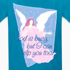 GOD IS BUSY, but I can help you! | children's shirt