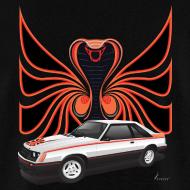Design ~ 1980 Mustang Cobra - Polar White - BACK