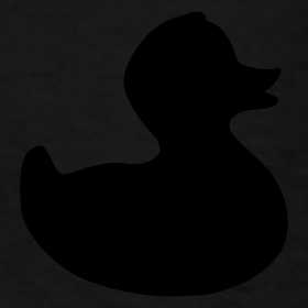 Design ~ duckie - fuzzy black on black