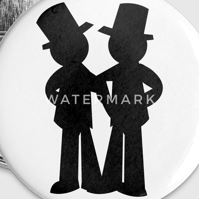 two grooms gay wedding Buttons - Small Buttons