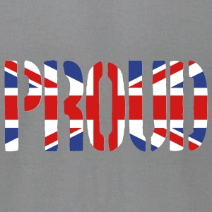 PROUD Britain Flag, British Flag, Union Jack, UK Flag - Men's T-Shirt by American Apparel