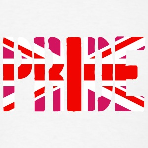 Gay Pride Britain Flag, Pink British Flag, Pink Union Jack, UK Flag - Men's T-Shirt