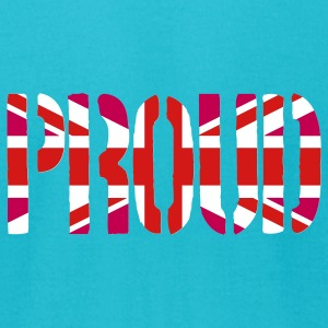 Gay Proud Britain Flag, Pink British Flag, Pink Union Jack, UK Flag - Men's T-Shirt by American Apparel