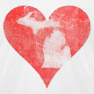 Design ~ Mi Distressed Heart Men's American Apparel T-Shirt
