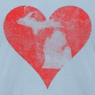 Design ~ Mi Distressed Heart Men's American Apparel T-Shirt
