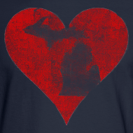 Design ~ Mi Distressed Heart Men's Long Sleeve T-Shirt