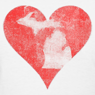 Design ~ Mi Distressed Heart Women's Standard Weight T-Shirt