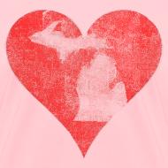 Design ~ Mi Distressed Heart Women's Standard Weight T-Shirt