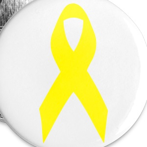 yellow ribbon Buttons - Small Buttons