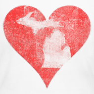 Design ~ Mi Distressed Heart Women's Long Sleeve T-Shirt