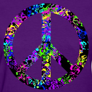 colorful_peace_sign Women's T-Shirts - Women's T-Shirt