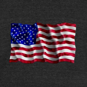 American Flag waving - Unisex Tri-Blend T-Shirt by American Apparel