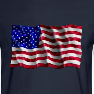 American Flag waving - Men's Long Sleeve T-Shirt