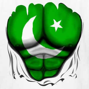 Pakistan Flag Ripped Muscles, six pack, chest t-shirt - Kids' T-Shirt