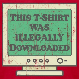 Illegally Downloaded T-Shirts - Men's T-Shirt by American Apparel