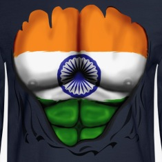 India Flag Ripped Muscles, six pack, chest t-shirt