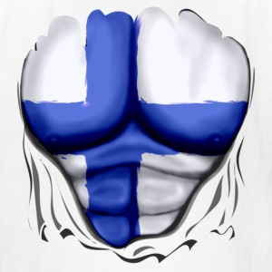 Finland Flag Ripped Muscles, six pack, chest t-shirt - Kids' T-Shirt