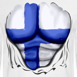 Finland Flag Ripped Muscles, six pack, chest t-shirt - Men's Long Sleeve T-Shirt