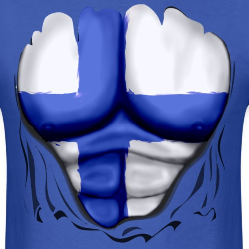 Finland Flag Ripped Muscles, six pack, chest t-shi