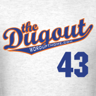 Design ~ RADickal #43 (R.A. Dickey) Mets Dugout T (Ash)