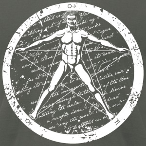 Agrippa Pentagram (round for dark) T-Shirts - Men's T-Shirt by American Apparel