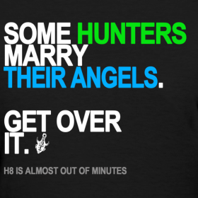 Design ~ Some Hunters Marry Angels Women's Black