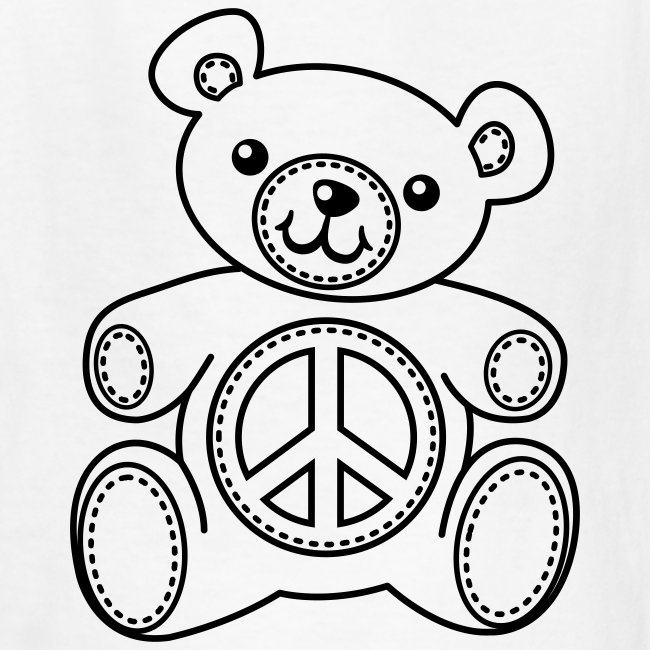 Fuchsia Coloring Page For Kids: Teddy Bear Coloring T-shirt Kids