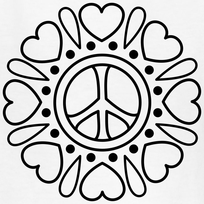 Hearts Flower Coloring T-shirt
