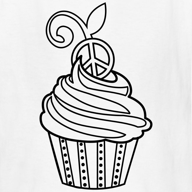 Fuchsia Coloring Page For Kids: Cupcake Coloring T-shirt - Kids T-Shirt